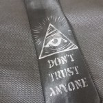 Hand made illuminati tie : Item no SIR 1001 HK$200